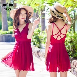 Patterned Swim Dress 1057589506