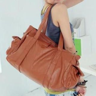 Faux-Leather Carryall