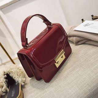 Faux Leather Crossbody Bag