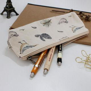 Patterned Pencil Case Ivory - One Size 1057348958