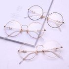 Faux-Pearl Detail Round Glasses 1596