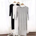 3/4-Sleeve Dip-Back T-Shirt Dress 1596