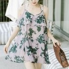 Set: Floral Swim Dress + Bikini 1596