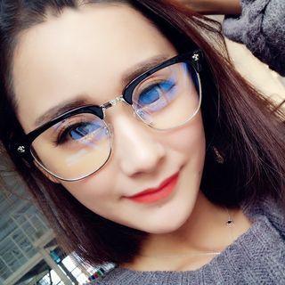 Half Frame Square Glasses 1045287099