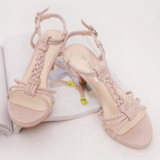 Picture of CLICK Braided T-Strap Sandals 1022933539 (Sandals, CLICK Shoes, Korea Shoes, Womens Shoes, Womens Sandals)