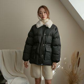 Faux-fur Collar Padded Jacket