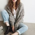 Cable-Knit Open-Front Cardigan 1596
