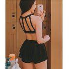 Set: Halter Bikini Top + Swim Skirt 1596