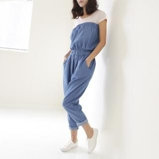 Picture of Youareagirl Tube Top Jumpsuit 1022469793 (Youareagirl Pants, South Korea Pants)