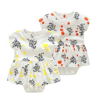 Baby Print Short-Sleeve Bodysuit