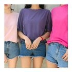 Colored Round-Neck T-Shirt 1596