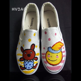 "Bear & Toy Ball"" Canvas Slip-Ons 1019658898"