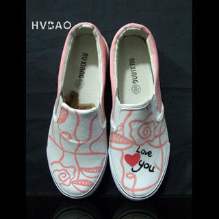 Picture of HVBAO Love You Slip-Ons 1019659101 (Slip-On Shoes, HVBAO Shoes, Taiwan Shoes, Womens Shoes, Womens Slip-On Shoes)