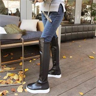 Zip-Side Knee-High Boots