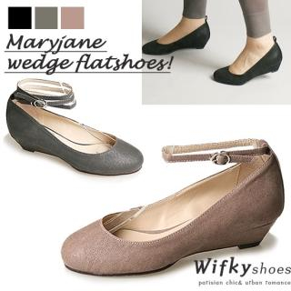 Picture of Wifky Ankle Strap Wedge Mary-Jane Pumps 1023055147 (Pump Shoes, Wifky Shoes, Korea Shoes, Womens Shoes, Womens Pump Shoes)