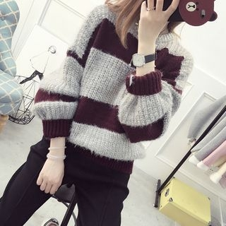 Striped Ribbed Sweater 1052972389