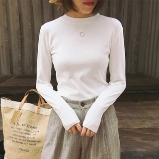 Ribbed Long-Sleeve T-Shirt 1061884423