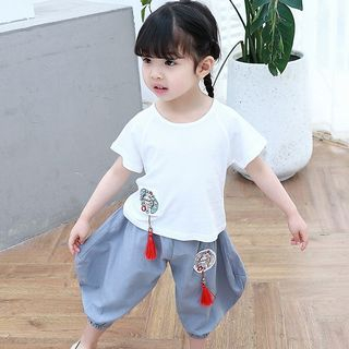 Short-sleeve | Embroider | T-Shirt | Jean | Kid