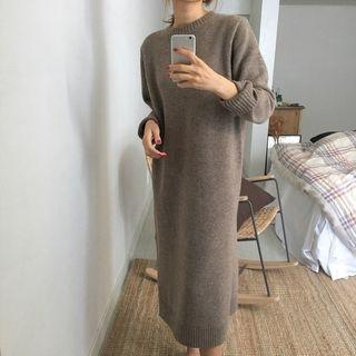 Round-Neck Midi Sweater Dress 1064065503