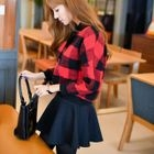 Set: Plaid Cropped Pullover + A-Line Mini Skirt 1596