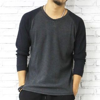 Ribbed Raglan Long-Sleeve T-Shirt 1054059814