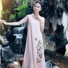 Sleeveless Floral A-line Maxi Dress 1596