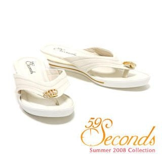 Buy 59 Seconds Metallic Wedge Thong Sandals 1011028952
