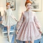 Maternity Embellished Lace Dress 1596