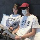 Couple Matching Short-Sleeve Character T-Shirt 1596