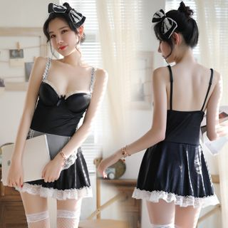 Stocking | Costume | Black | Maid | Size | One | Set