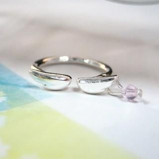 Angel Wings Ring Silver  One Size