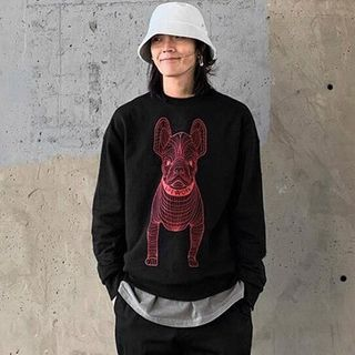 Image of Dog Print Pullover