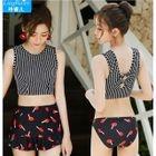 Set: Print Tankini + Cover-up Shorts 1596