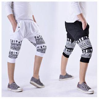 Print Harem Pants