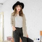 V-Neck Button Melange Cardigan 1596