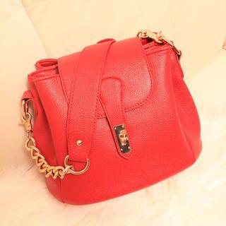 Flap Chain-Strap Shoulder Bag