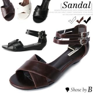 Buy Shoes by B Crossed Strap Accent Sandals 1023034554