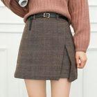 Layered Plaid A-Line Skirt 1596