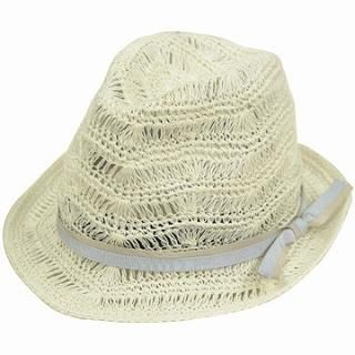 Buy GRACE Bow-Accent Fedora Ivory – One Size 1022190376