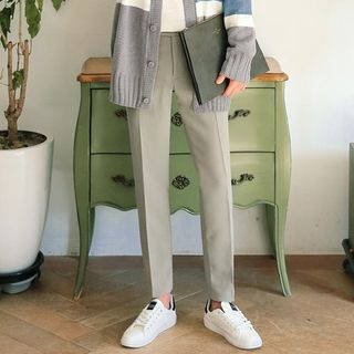 Straight-Cut Dress Pants
