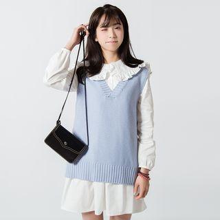 V-Neck Knit Vest 1049516491