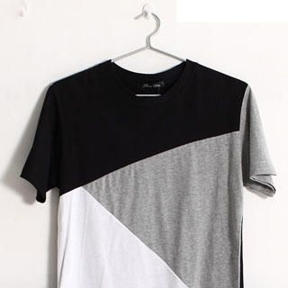 Picture of SERUSH Color-Block Tee 1022914549 (SERUSH, Mens Tees, Taiwan)