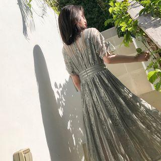 Short-sleeve   Sleeveless   Dress   Lace