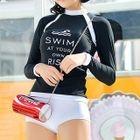 Set: Lettering Rashguard + Swim Shorts 1596