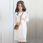 Kids Long-Sleeve Lace Dress 1596