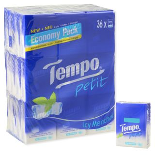 Image of Tempo Petit Pocket Tissue (Icy Menthol, 36packs) Icy Menthol - 36packs (7s each)