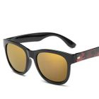 Square Sunglasses Type 6 - Bright Black Frame  Multicolor Lens - One Size от YesStyle.com INT