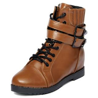 Double-Belt Side-Zip Boots