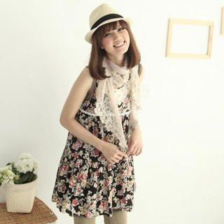 Buy CatWorld Lace-Trim Floral Print Sundress 1022744325