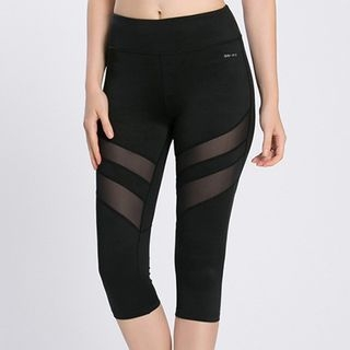 Mesh Insert Capri Sports Leggings 1057558325